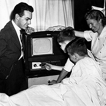 Original Jimmy radio broadcast in hospital