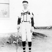 Jimmy in Braves uniform