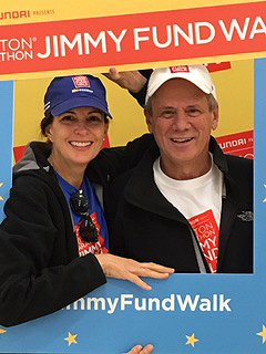 Larry and Stacey Lucchino at the 2015 Boston Marathon Jimmy Fund Walk