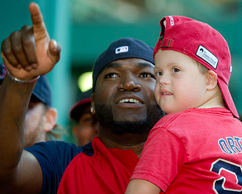 David Ortiz and Pediatric Patient at Radio Telethon