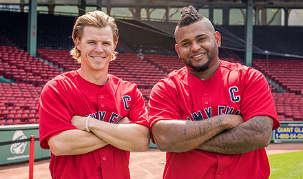 Brock Holt and Pablo Sandoval are Jimmy Fund Co-Captains for the 2016 baseball season