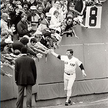 Boston Red Sox Carl Yastrzemski on Yaz Day