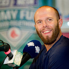 Red Sox Dustin Pedroia at WEEI NESN Radio-Telethon