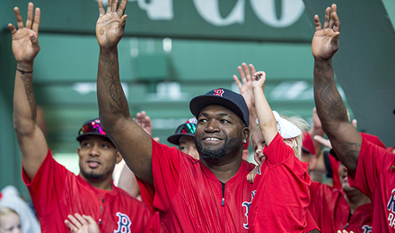 David Ortiz waves to supporters at 2016 WEEI / NESN Jimmy Fund Radio-Telethon