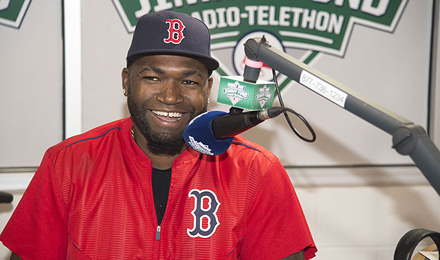 David Ortiz at 2016 WEEI / NESN Jimmy Fund Radio-Telethon
