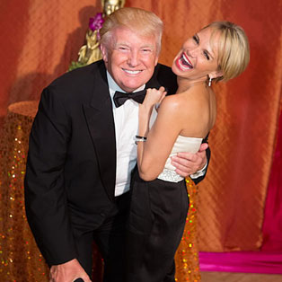 Donald Trump and Kristin Chenoweth