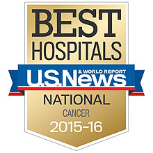 U.S. News & World Report best adult cancer hospital