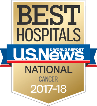 US News & World Report Best Adult Cancer Hospital 2017-2018
