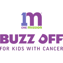 One Mission Buzz Off For Kids with Cancer logo