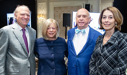Arthur and Vicki Loring, Bruce Beal, and Laurie Glimcher, MD