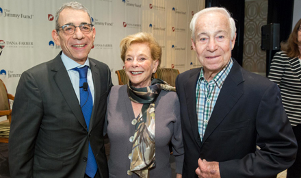(l to r) Dr. Eric Winer with Randi and David Zussman