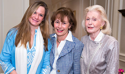 Charlotte DiMaggio, Emily C. DiMaggio, and Institute Trustee Emily F. DiMaggio