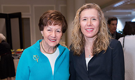 Institute Trustee Jean Pearlstein and Leonard P. Zakim Center for Integrative Therapies Director Jennifer Ligibel, MD