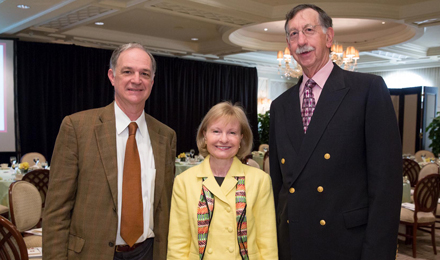 Alan and Karen Dawes with Stephen E. Sallan, MD, Chief of Staff Emeritus, Dana-Farber