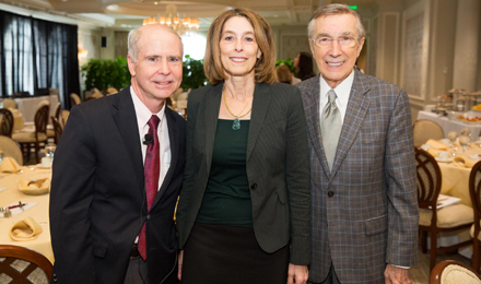 Dr. Ken Anderson, Dr. Laurie Glimcher, and Robert Tomsich