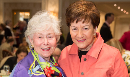 Paula Lunder and Institute Trustee Jean Pearlstein