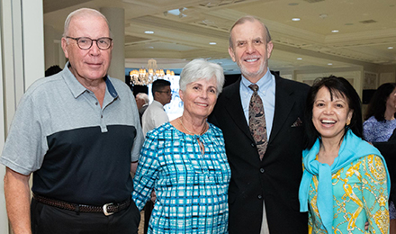 Betsy and Robert Hunnewell (l) with Marie and Richard Hunnewell