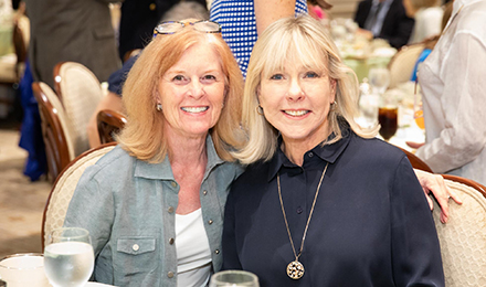 Catherine Petros (l) and Judy Harpel