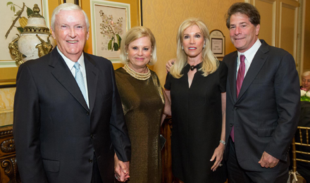 Eileen and Jack Connors (l) with Michele and Howard Kessler