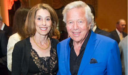 Dr. Laurie Glimcher with Robert Kraft