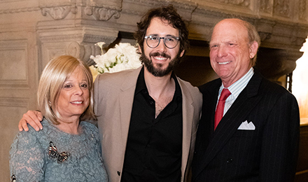 Vicki and Arthur Loring with Josh Groban (c)