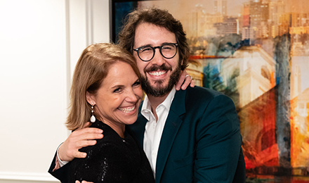 Katie Couric and Josh Groban