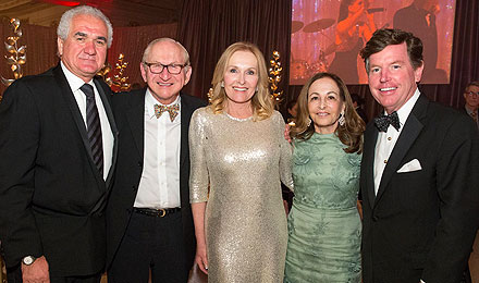 GianFranco DiCicco, Richard Krock, Sheila Palandjian, Institute Trustee Phyllis Krock, and Tom Quick