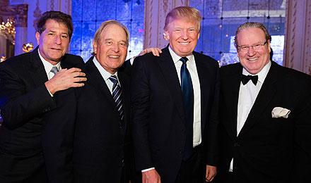 Howard Kessler, Paul Fireman, Donald Trump, and Patrick Park