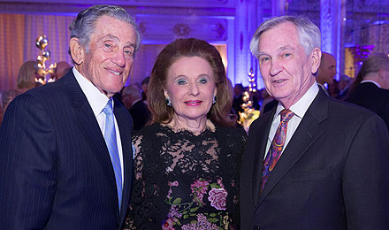 Robert Belfer, an Institute Trustee, and his wife, Renée, with Dana-Farber President and CEO Edward J. Benz Jr., MD (right)