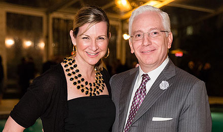 Sue Samour and Saks Fifth Avenue General Manager Peter Schuette