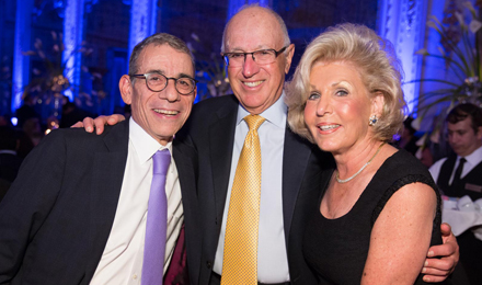 Bernard and Ethel Garil (right) with Dana-Farber Chief Clinical Strategy Officer Eric P. Winer, MD