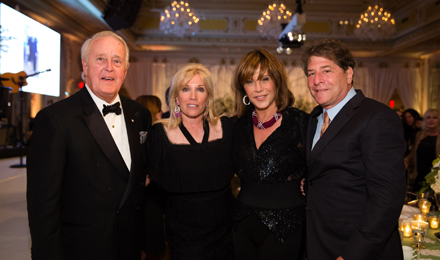 (l to r) Brian Mulroney, Michele Kessler, Mila Mulroney, and Howard Kessler