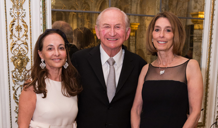 Phyllis and Richard Krock with Dr. Laurie Glimcher (r)