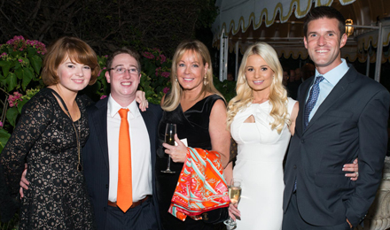 Sarah Higgins, Alex Emmett, Geri Emmett, and Kelsey and Jason Emmett