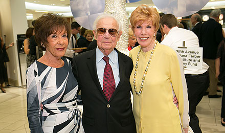 Nancy and Eliot Comenitz (left) with Joan Genser