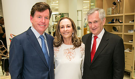 2015 Kick-Off Party Chairs Tom Quick and Phyllis Krock, an Institute Trustee, with Dana-Farber President and CEO Edward J. Benz Jr., MD (right)