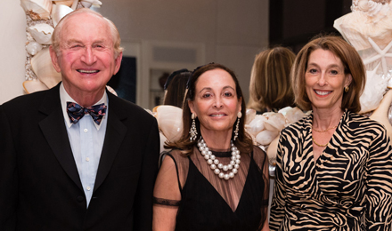 Phyllis and Richard Krock (l) with Dr. Laurie Glimcher