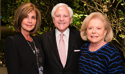 Amy Schlager (left) with Larry and Judie Schlager, an Institute Trustee