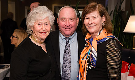 Paula and Peter Lunder (left) with Margorie Lunder Goldy