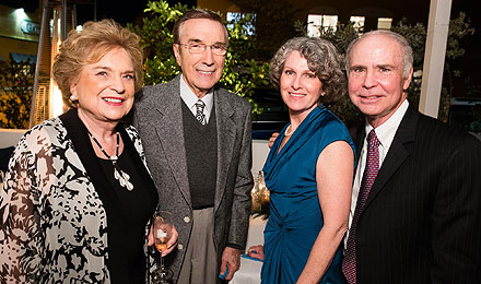 Suzanne and Robert Tomsich (left) with Cynthia and Kenneth C. Anderson, MD, director, Jerome Lipper Center for Multiple Myeloma and LeBow Institute for Myeloma Therapeutics