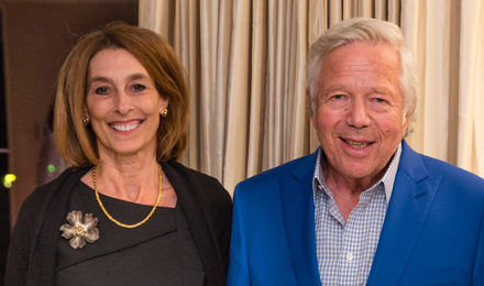 Dr. Laurie Glimcher and Robert Kraft