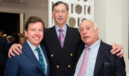 2016 Pre-Celebration Dinner Chair Tom Quick; Stephen E. Sallan, MD, Chief of Staff Emeritus, Dana-Farber; and Jim Harpel