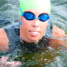 Swim Across America Boston Harbor participant