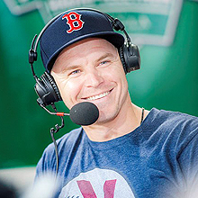 Brock Holt at WEEI NESN Jimmy Fund Radio-Telethon
