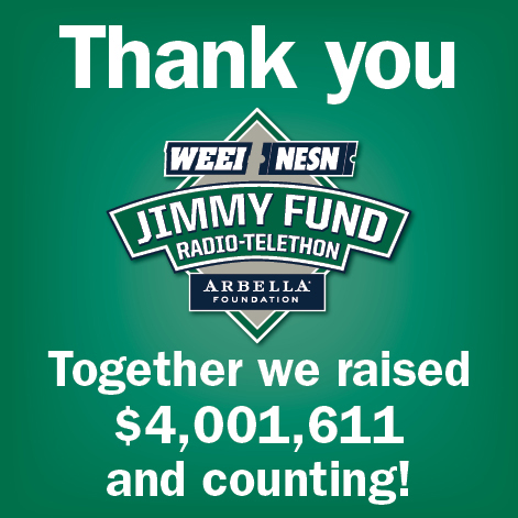 Tune in to 2017 WEEI/NESN Jimmy Fund Radio-Telethon