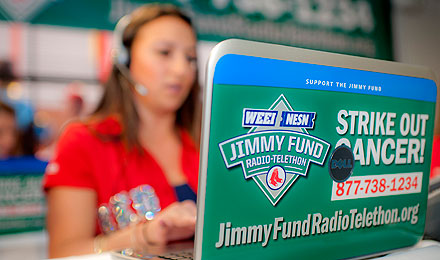 Sponsoring the WEEI/NESN Jimmy Fund Radio-Telethon is a great way to get your company involved with Dana-Farber and its fight against cancer.