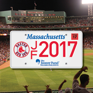 2017 Boston Red Sox Jimmy Fund license plate