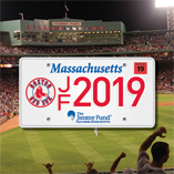 Boston Red Sox Jimmy Fund License Plate 2019