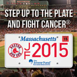 Jimmy Fund Red Sox License Plate 2015