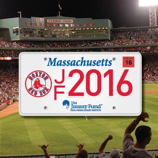 2016 Boston Red Sox Jimmy Fund license plate